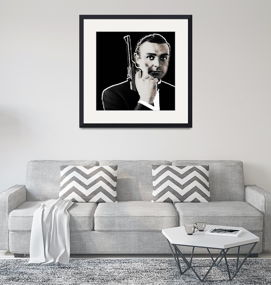 """Sean Connery James Bond Square""  (2013) by RubinoFineArt"