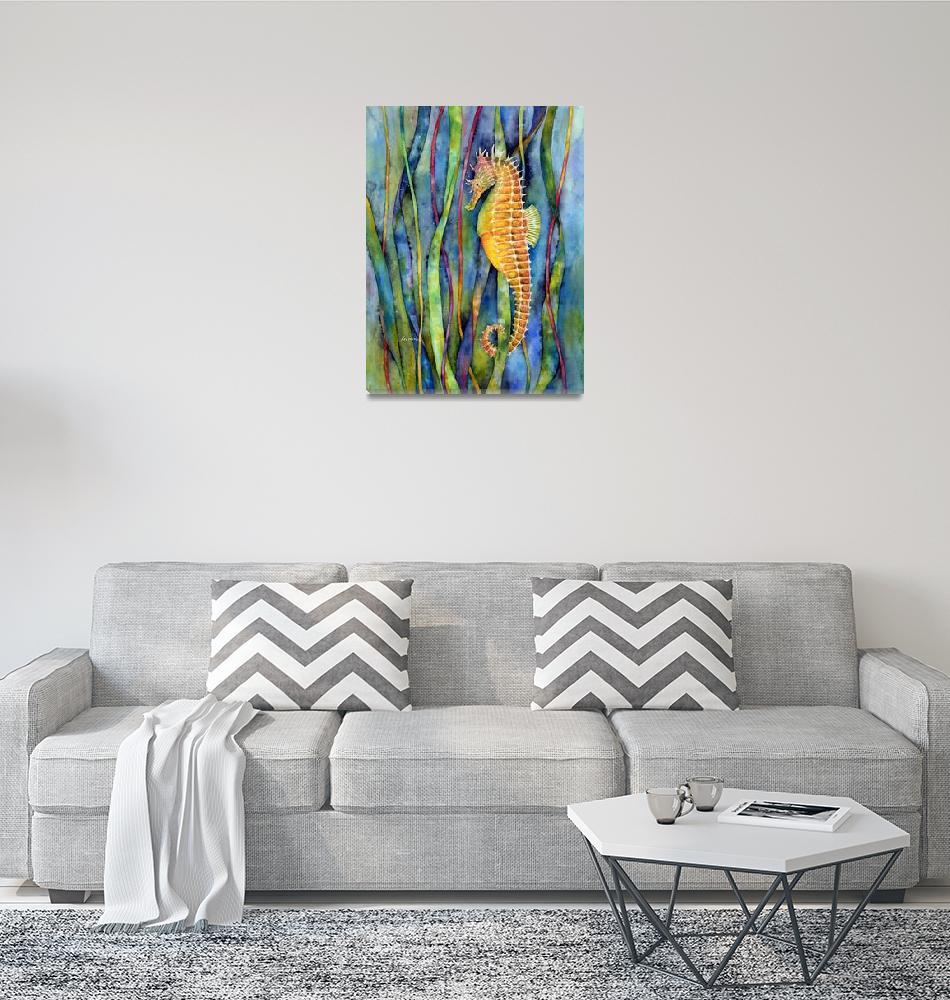 """""""Seahorse""""  (2015) by HaileyWatermedia"""