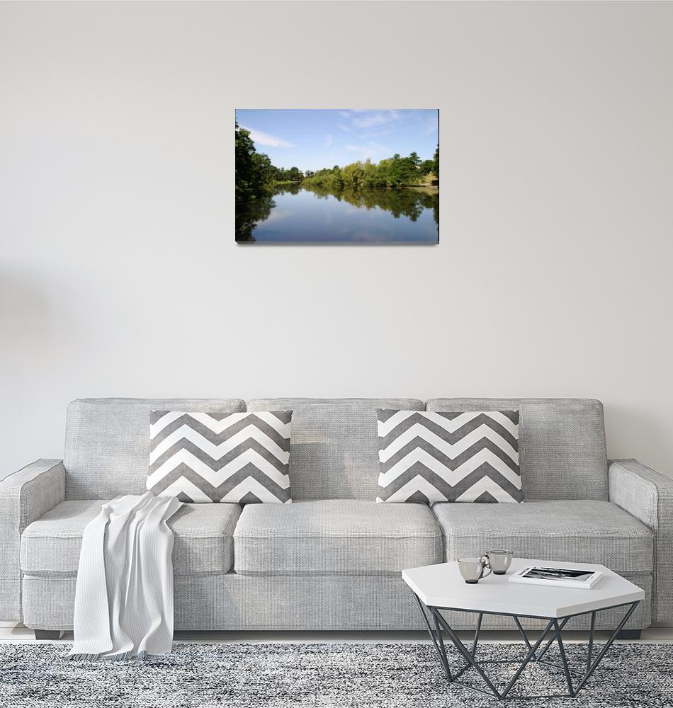 """Reflections along the river""  (2011) by fbdesign"