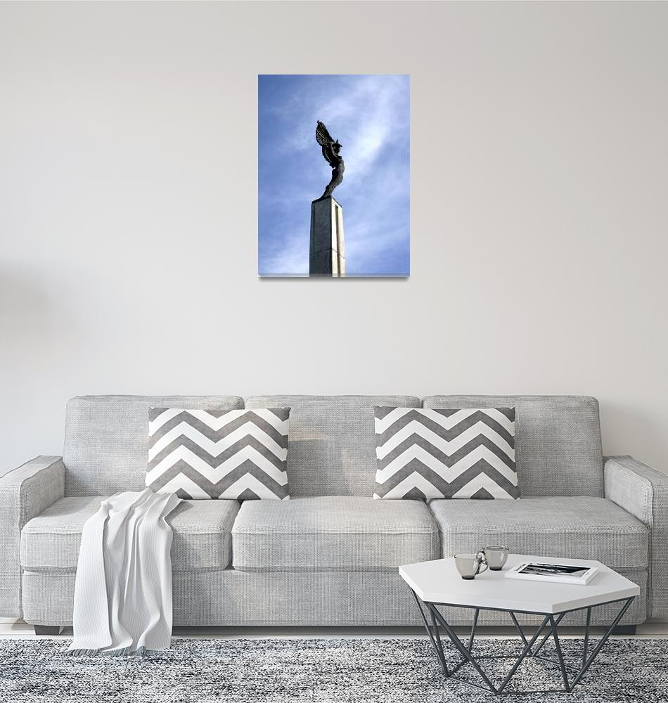 """Angel Statue I""  (2009) by Alvimann"