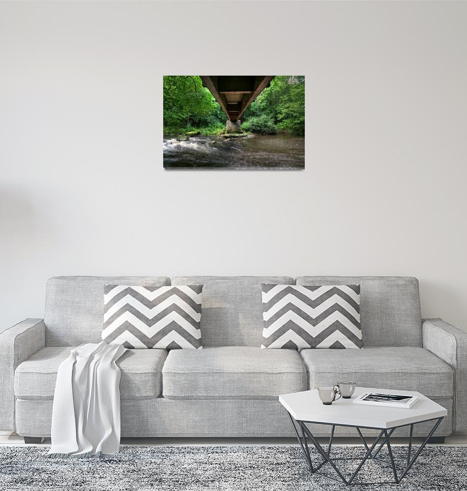 """Under the Footbridge at Clare Glen""  (2009) by GlennCartmill"