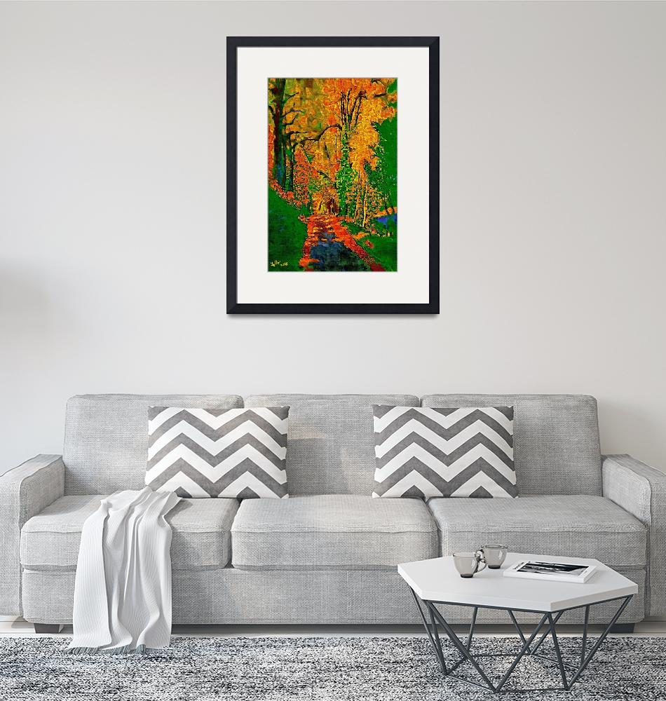 """""""TREES AT NIGHT FALL 3D""""  by ArtTylers"""