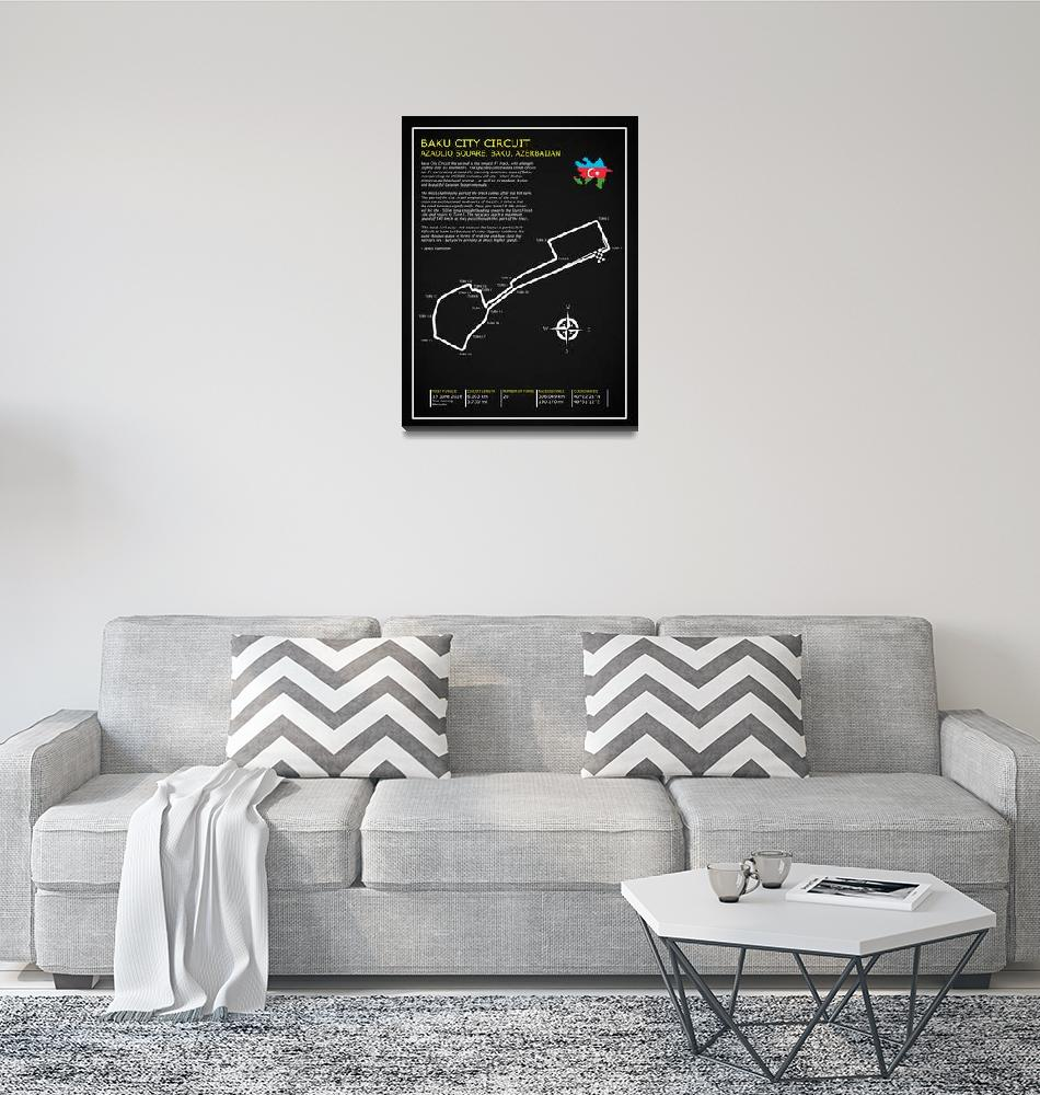 """The Baku City Grand Prix Circuit""  by mark-rogan"