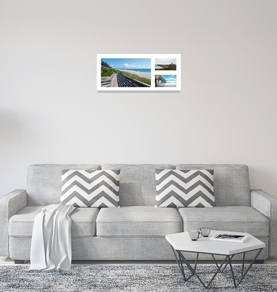 """""""Juno Beach Florida Seascape Collage 1""""  (2016) by Ricardos"""