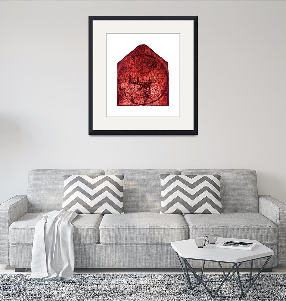 """Hereford Mappa Mundi Red Tint Largest White Border"" (2014) by TheNorthernTerritory"