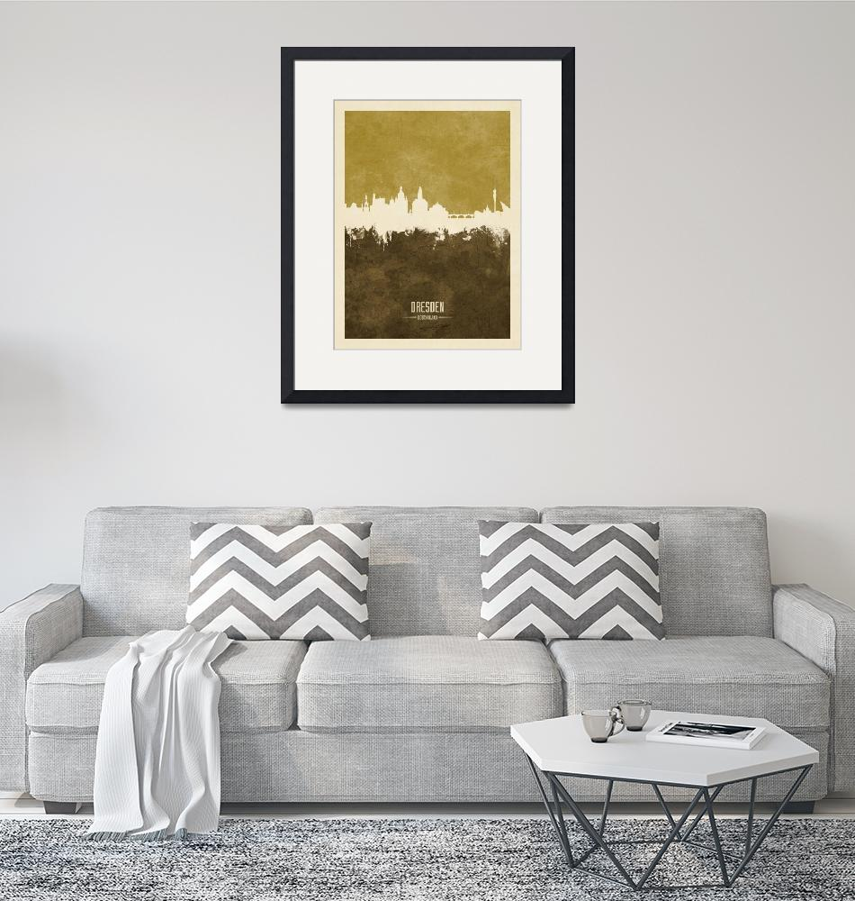 """Dresden Germany Skyline""  (2018) by ModernArtPrints"