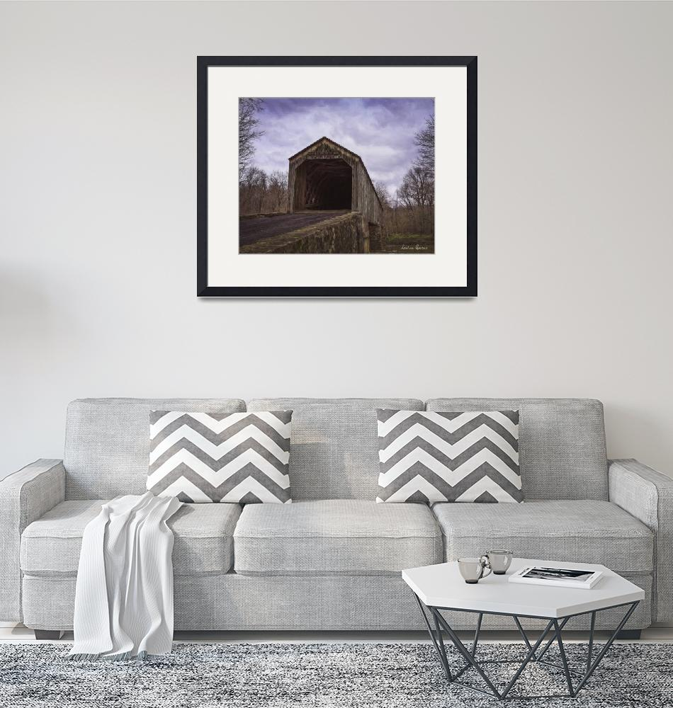 """""""Scofield Ford Covered Bridge""""  (2016) by LouiseReeves"""