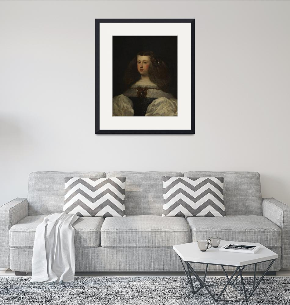 """""""Diego Velázquez~Dona Mariana of Austria, Queen of""""  by Old_master"""