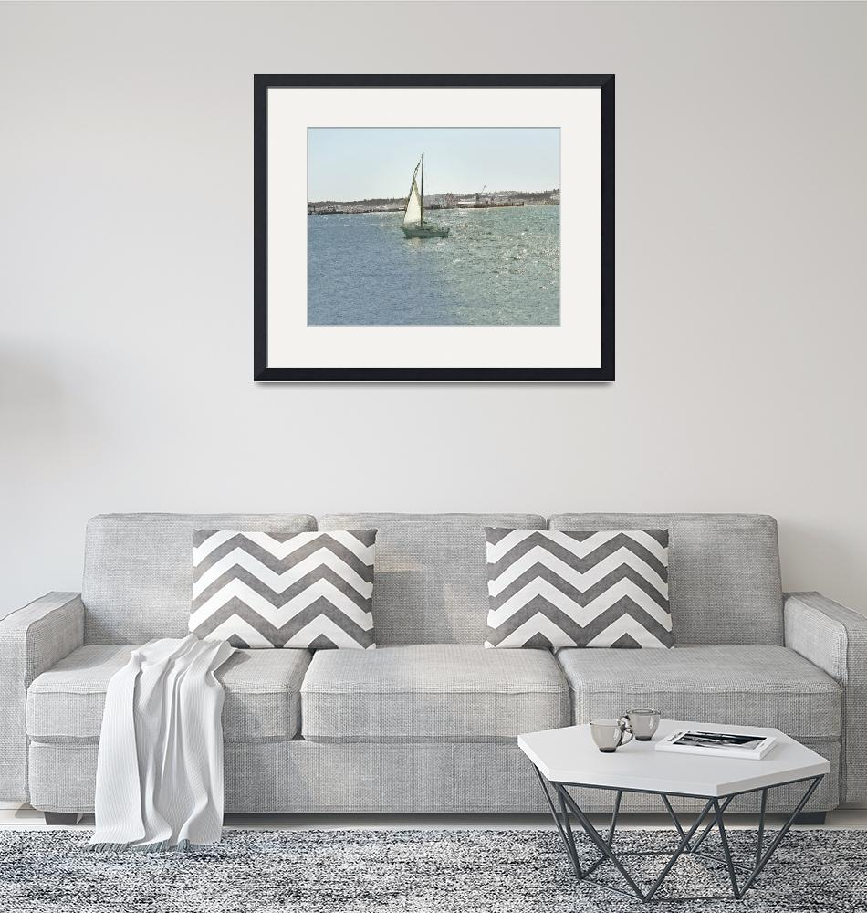 """""""Sailing the Puget Sound""""  (2015) by patriciaschnepf"""