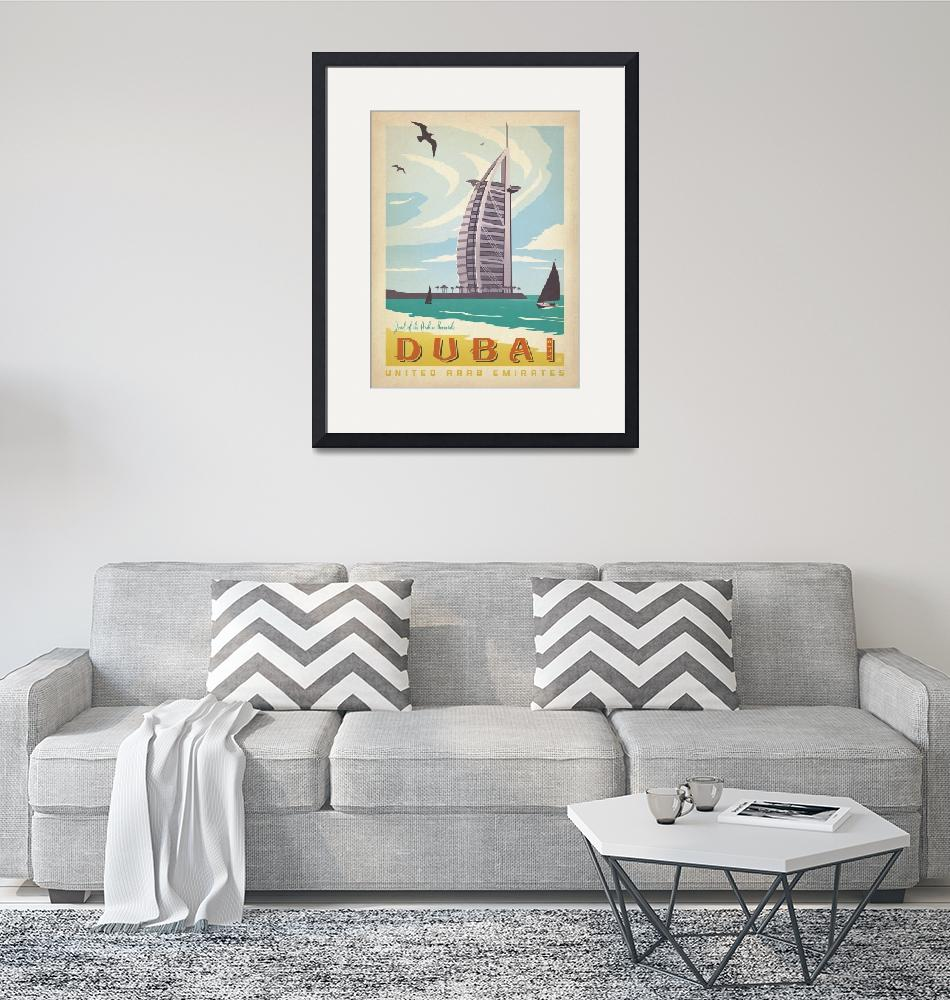 """Dubai, United Arab Emirates Retro Travel Poster""  by artlicensing"