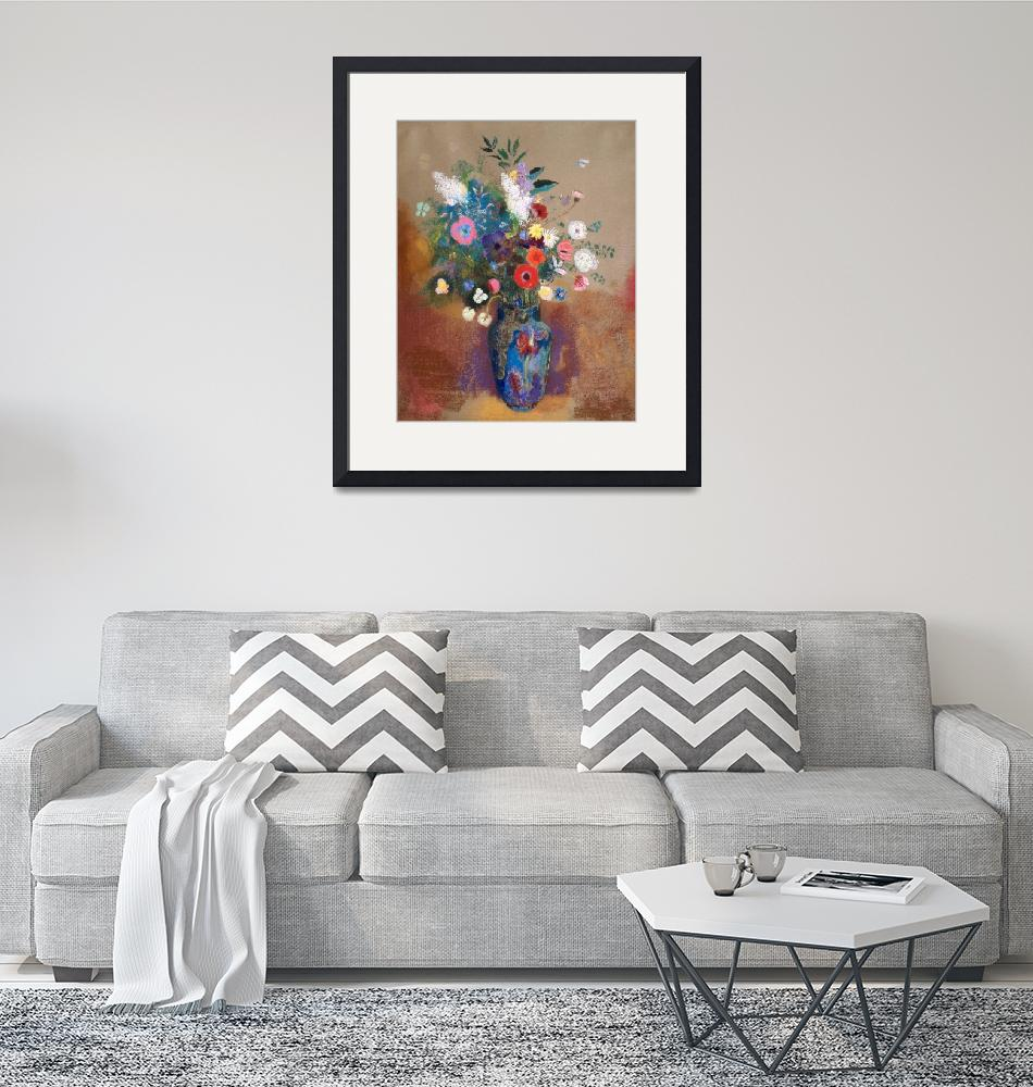 """Bouquet of Flowers by Odilon Redon""  by FineArtClassics"