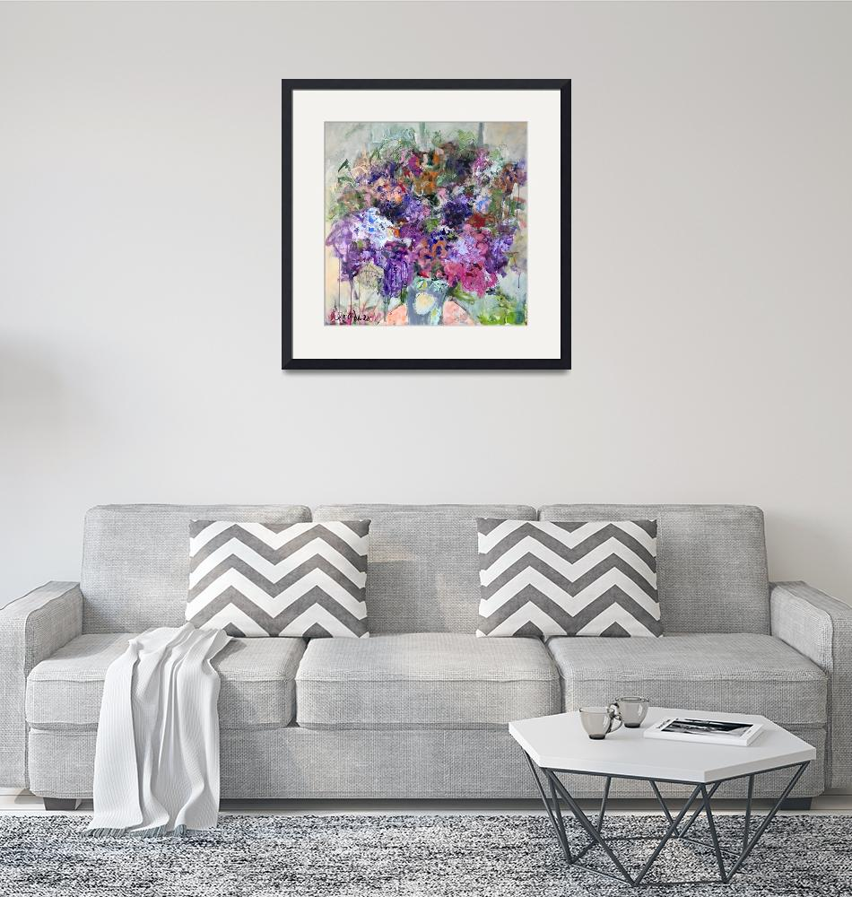 """""""Lilacs""""  (2017) by SandyWelchArt"""