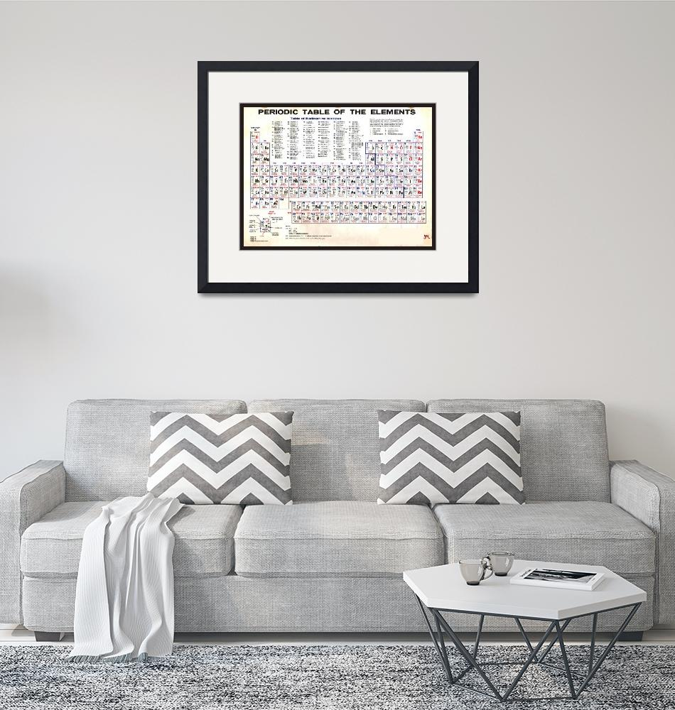 """Periodic Table Of The Elements Vintage Chart Warm""  (2015) by RubinoFineArt"