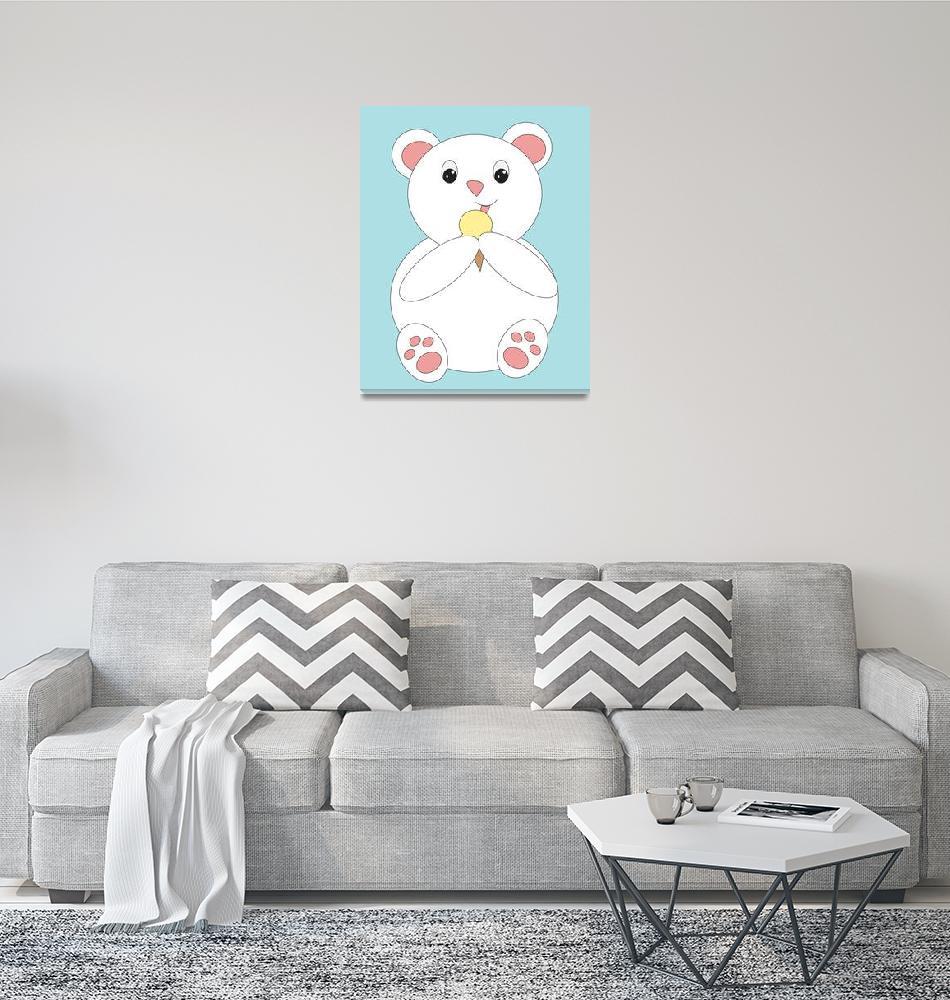 """Polar Bear Eating Ice Cream""  (2013) by ValeriesGallery"