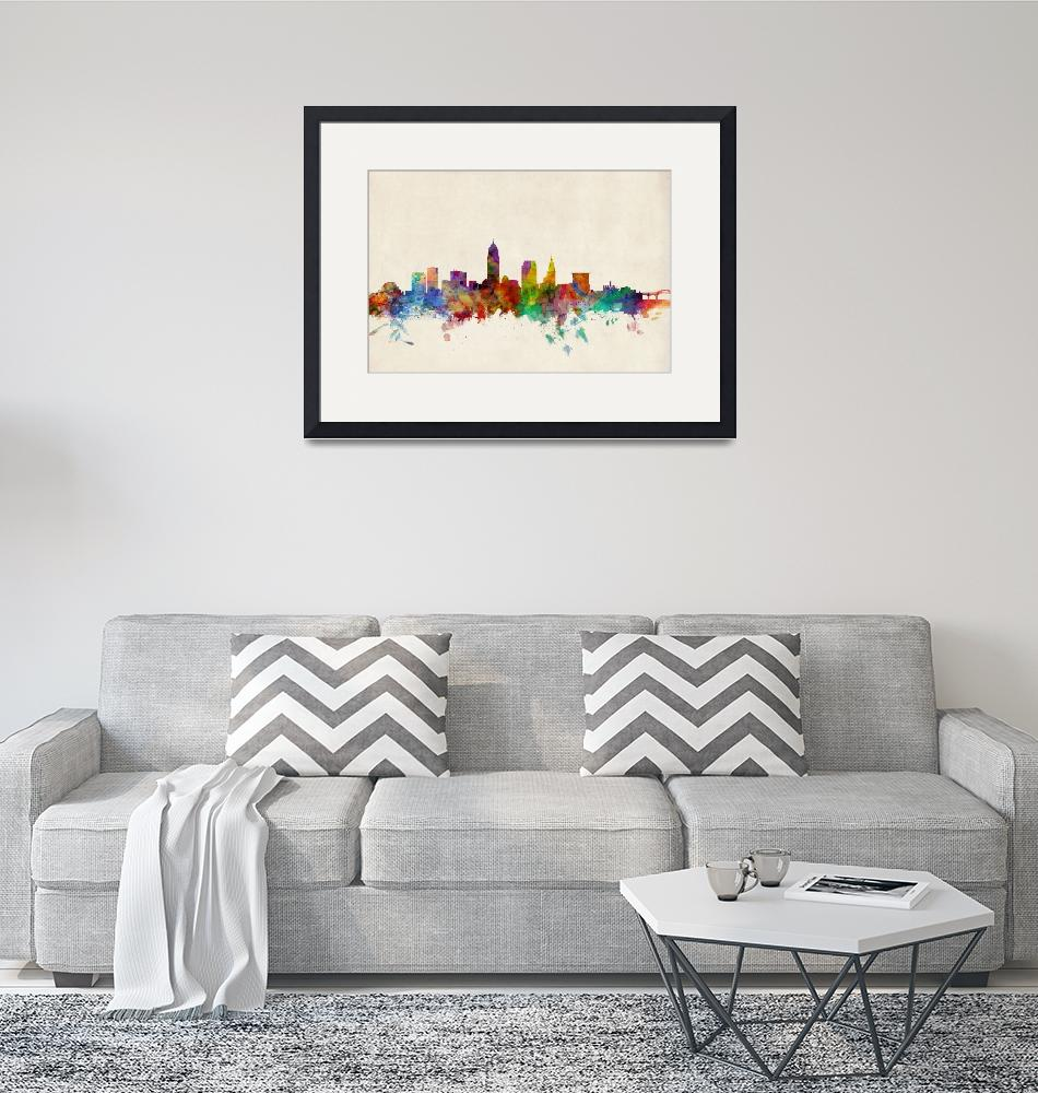 """Cleveland Ohio Skyline""  (2013) by ModernArtPrints"