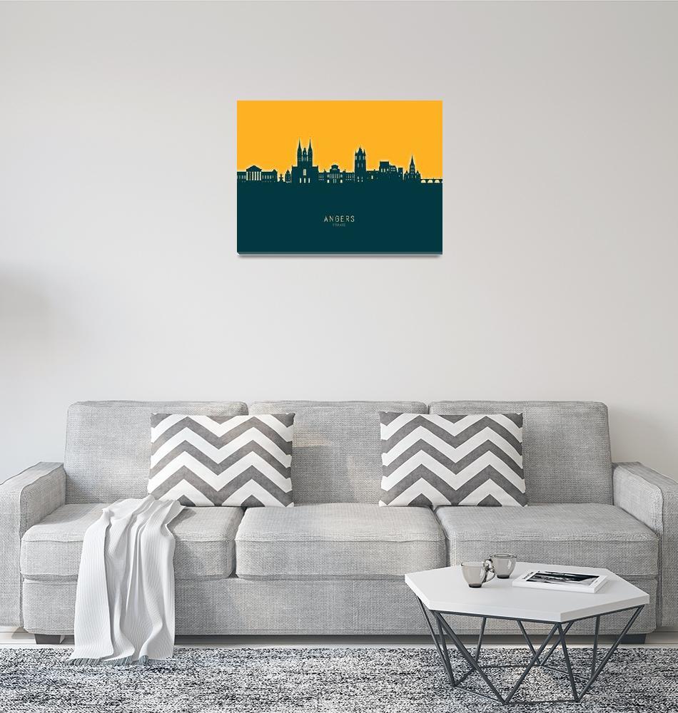 """Angers France Skyline""  (2021) by ModernArtPrints"