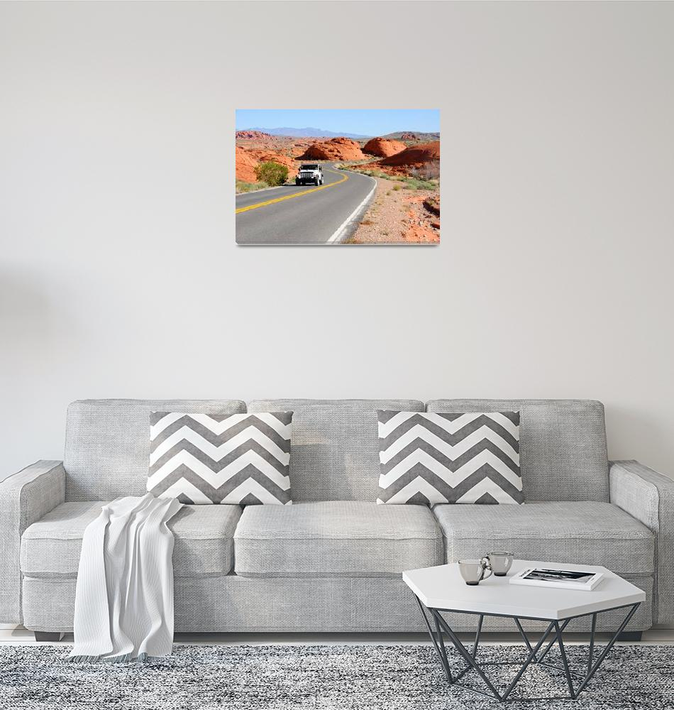 """""""Driving through the Valley of Fire""""  (2010) by ultimateplaces"""