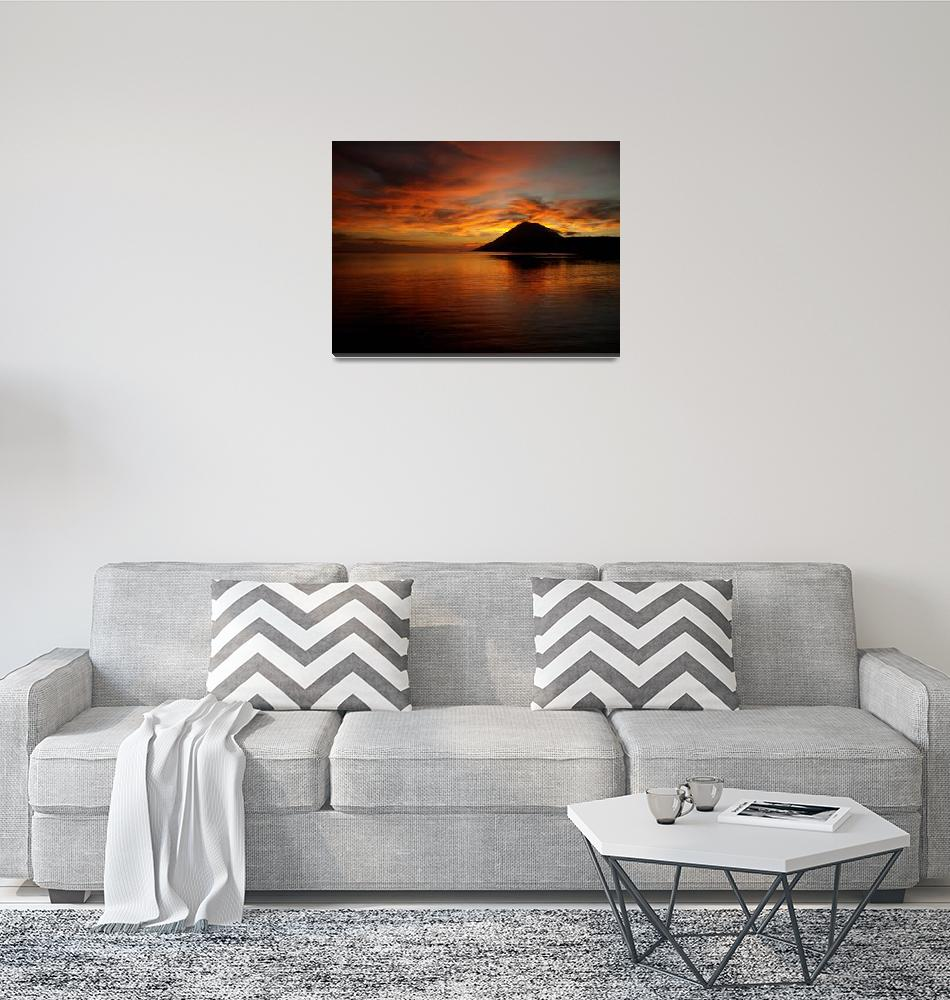 """Bunaken Sunset""  (2007) by JessicaShellPhotography"