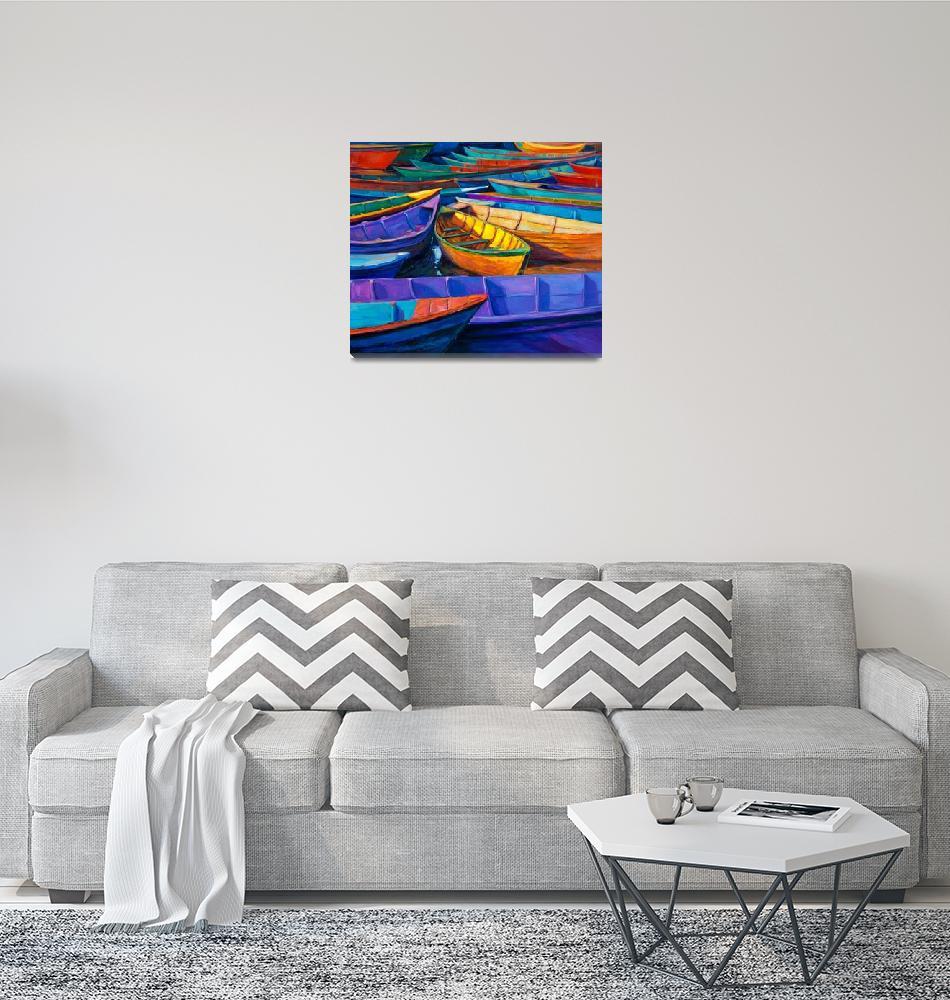 """Culorfull boats""  by boyan"