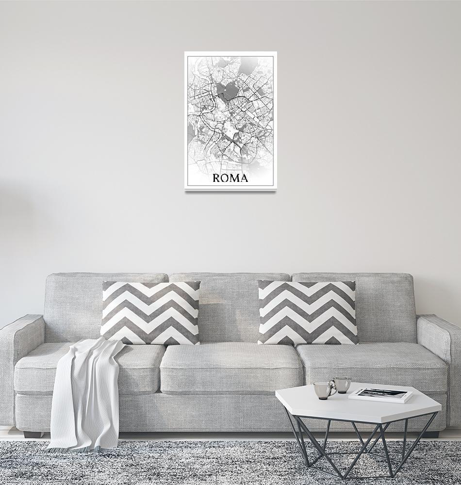 """Roma, Italia, city map print.""  by dandistudio"