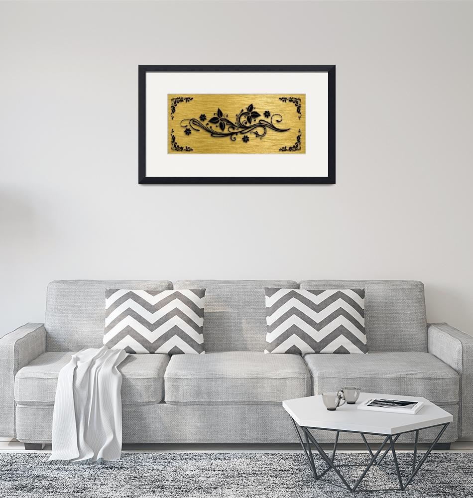 """""""Gold illustration for interior 9""""  (2019) by Radiant"""