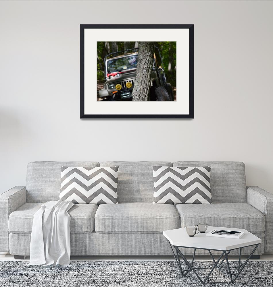 """""""Jeep Behind A Tree""""  by Artsart"""