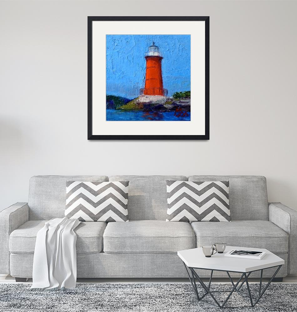 """""""Red Lighthouse""""  by MaryLorArt"""