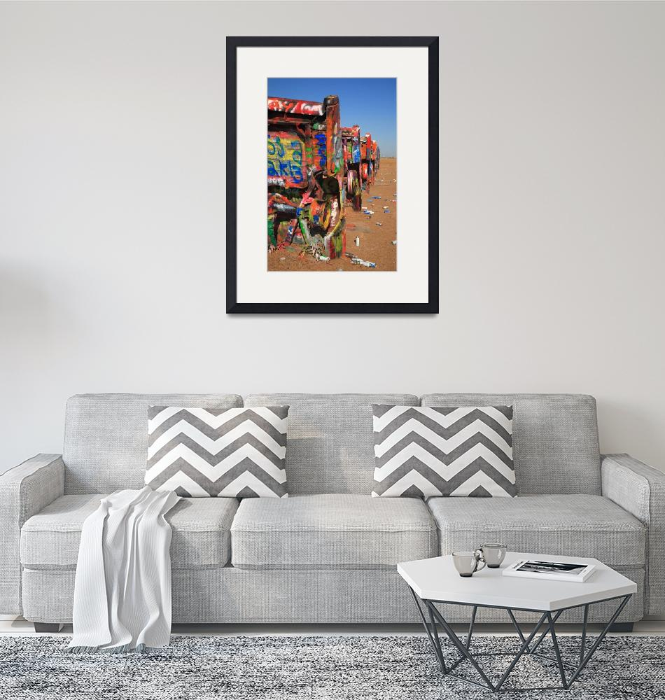 """""""Route 66 - Cadillac Ranch""""  (2012) by Ffooter"""