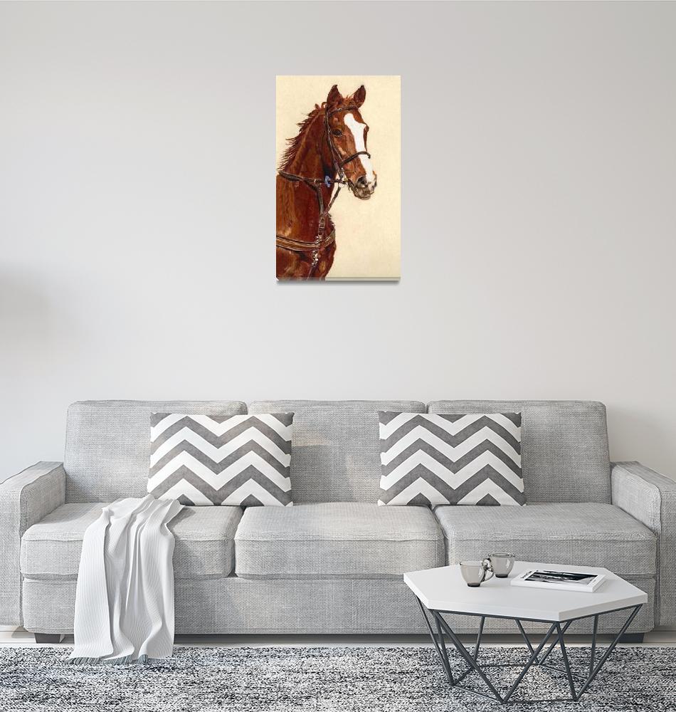"""""Proud"" Horse Colored Pencil Art""  (2010) by PatriciaBarmatz"