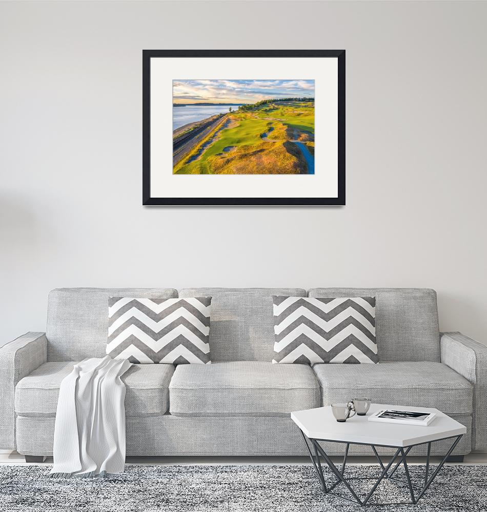 """""""Chambers Bay Golf Course, Hole #16""""  (2019) by centioliphotography"""