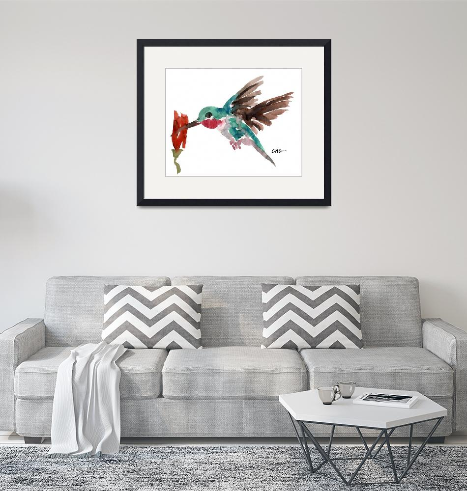 """Hummingbird in Flight""  (2002) by clovia"