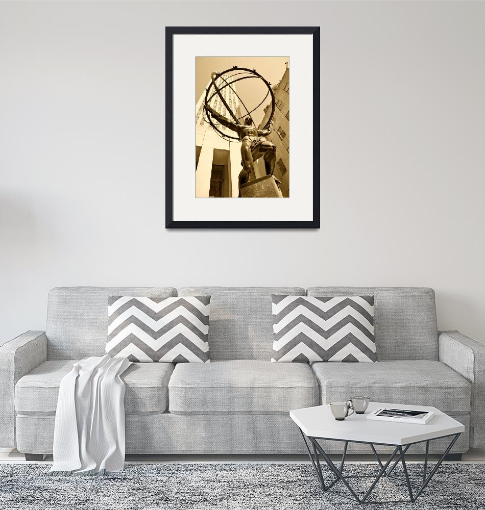"""""""Atlas In Sepia""""  (2009) by PaulCoco"""