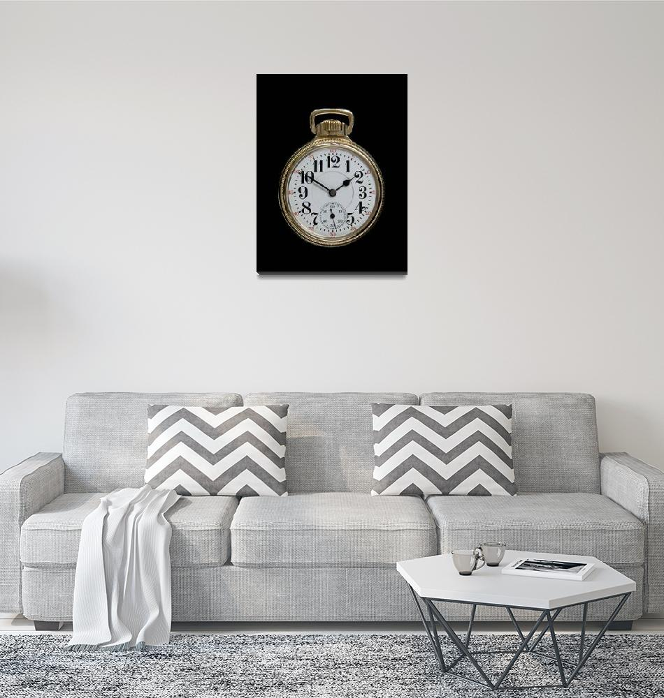 """""""Art Deco Gold Pocket Watch""""  (2009) by ImageArt-Photography"""