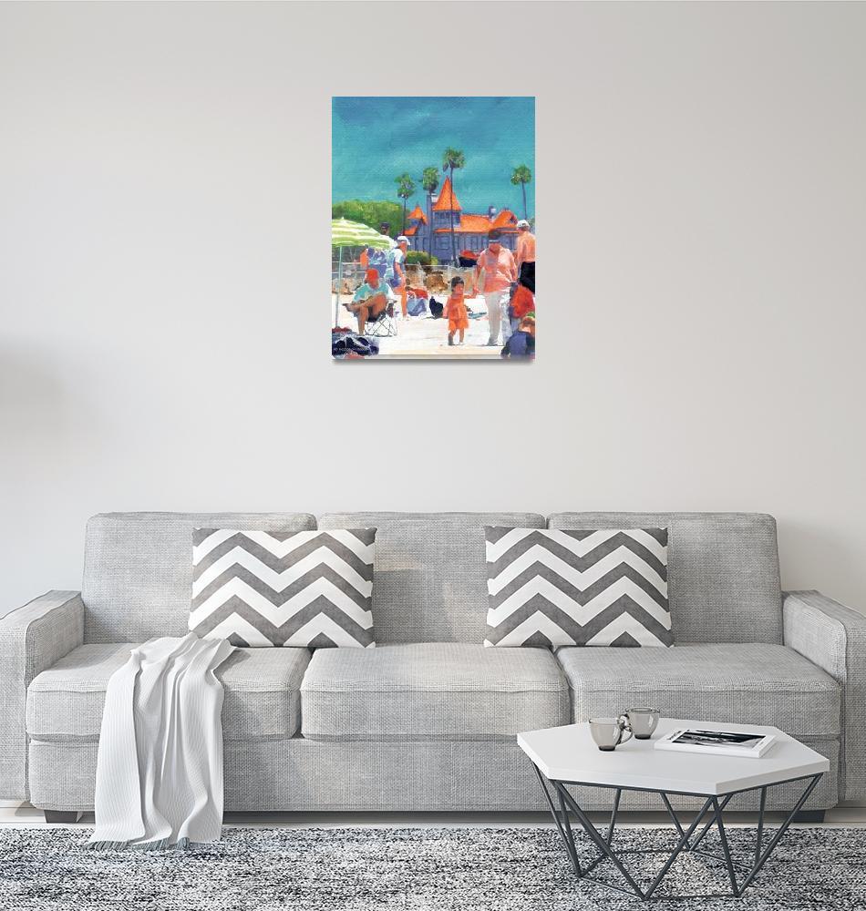 """First Day at the Beach in Coronado by Riccoboni""  (2005) by RDRiccoboni"