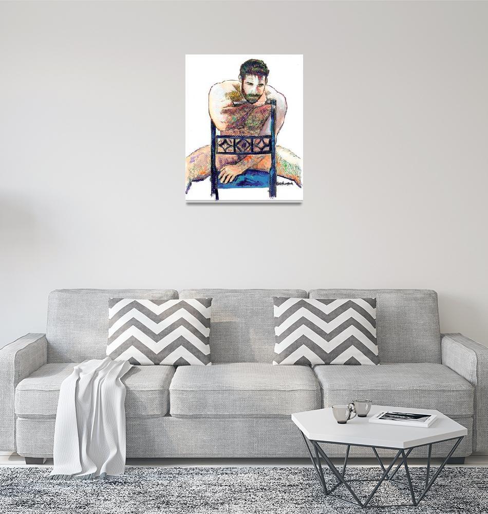 """The Blue Chair Portrait of Big Bear"" (2006) by RDRiccoboni"
