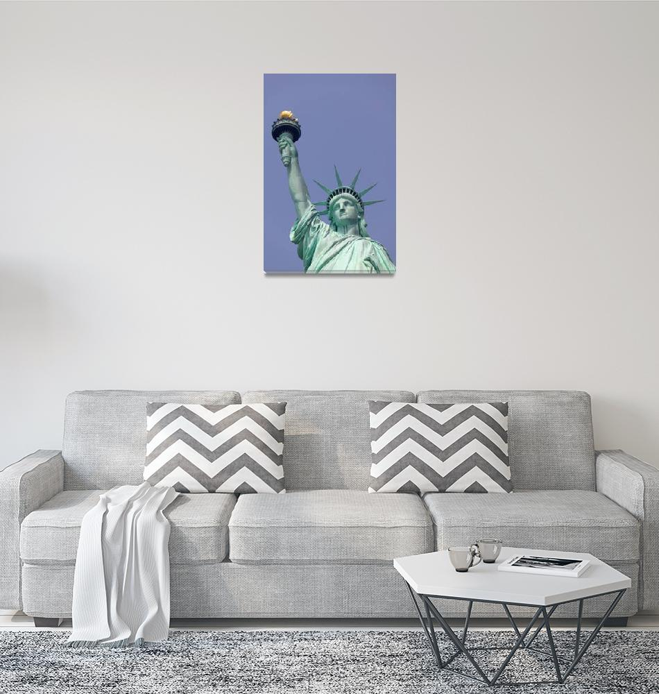 """Statue of Liberty Close Up""  (2003) by fineartphoto"
