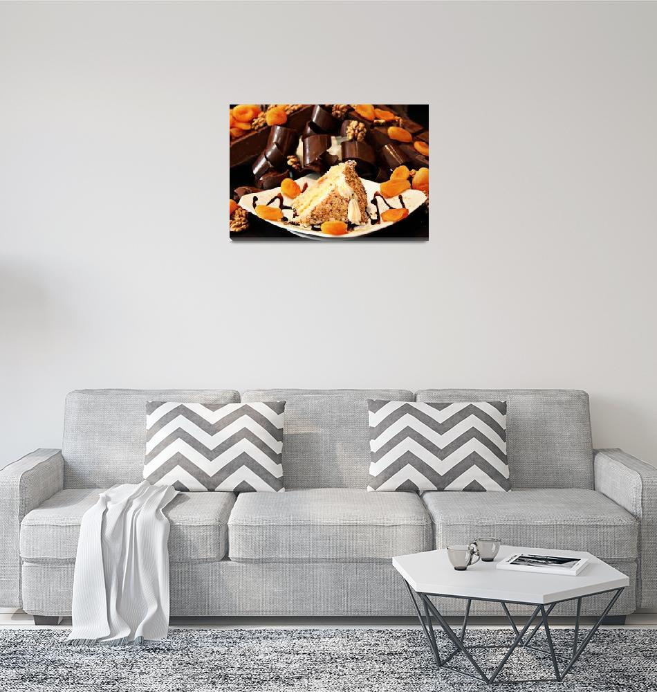 """Pecan and Apricot Cake""  (2010) by annatheodora"