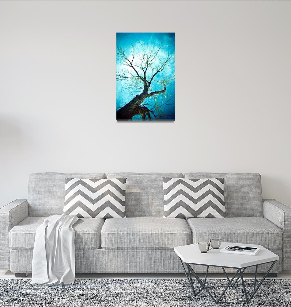 """Winter Tree Blue""  (2018) by lightningman"