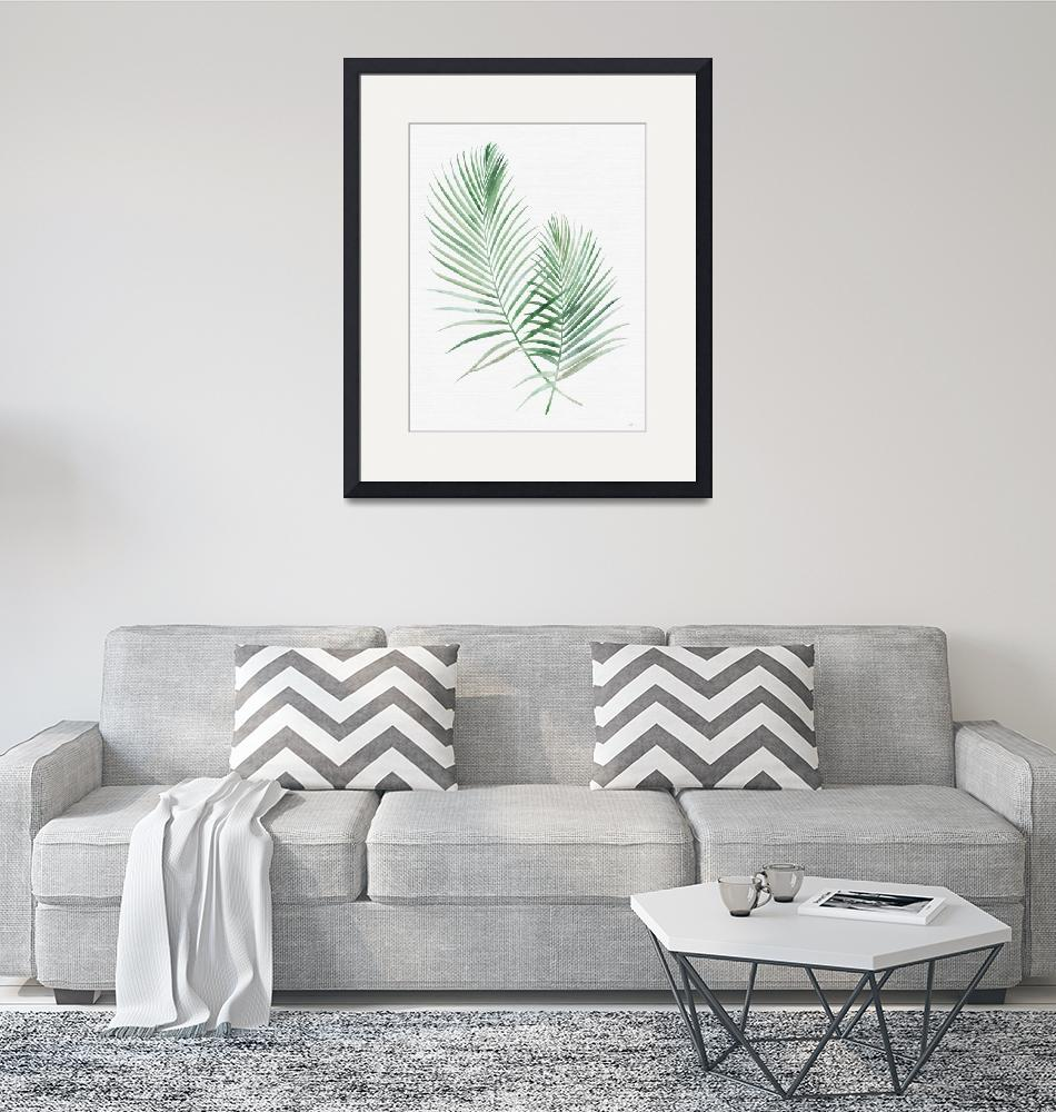 """""""Emerald Palms Watercolor""""  (2018) by moderntropical"""