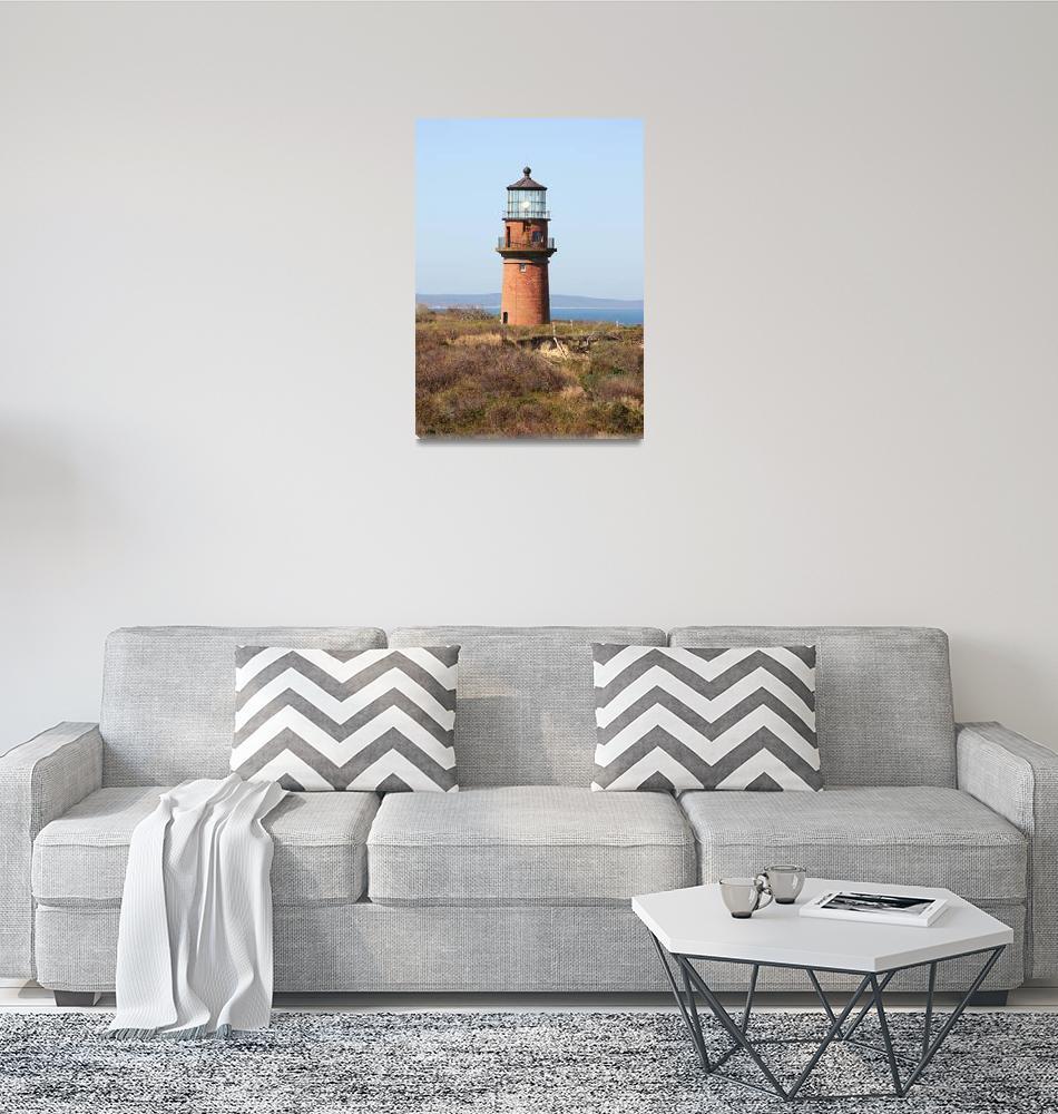 """""""Gay Head Lighthouse Closeup""""  (2010) by Groecar"""