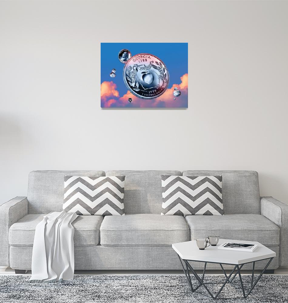 """""""Georgia State Quarter - Sky Coin 04""""  (2017) by statequarters"""