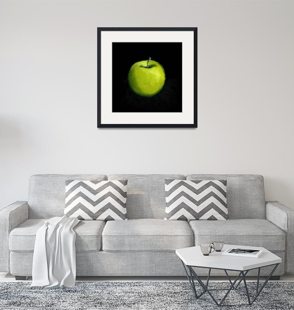 """Green Apple Still Life""  (2007) by Michelle1991"