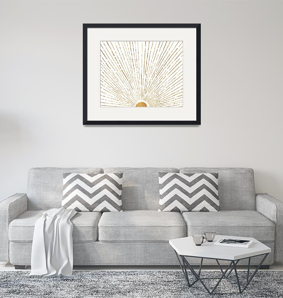 """""""White Gold Sunrise""""  (2018) by moderntropical"""