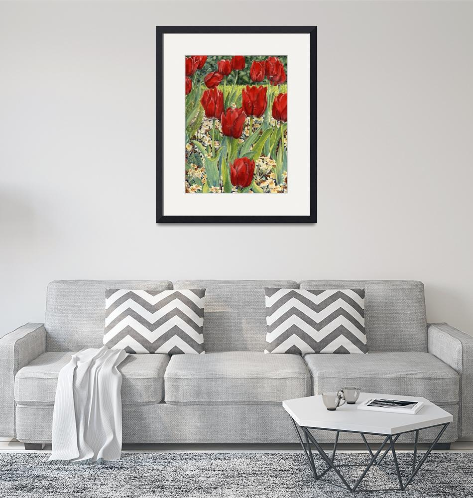 """""""Red Tulips""""  (2006) by msrite1"""