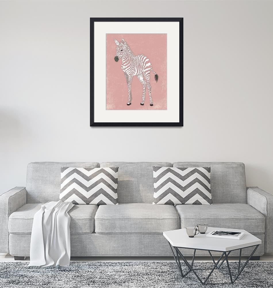 """Baby Zebra in Pink""  (2014) by Littlepig"