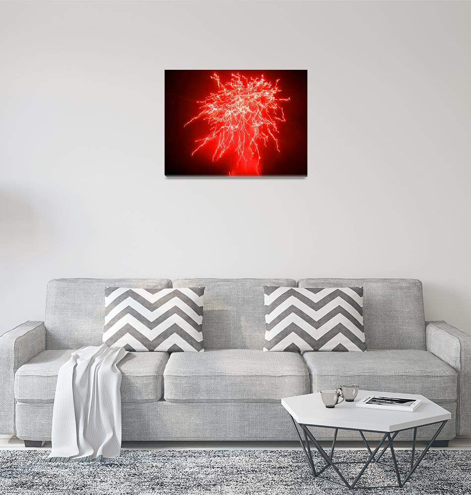 """""""red fireworks""""  (2008) by callsage"""