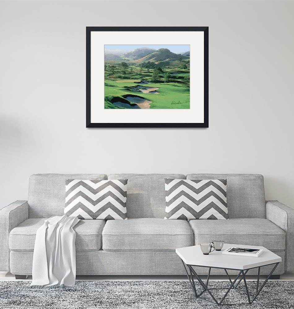 """""""Golfing in California Wine Country""""  (2009) by AudieDunham"""