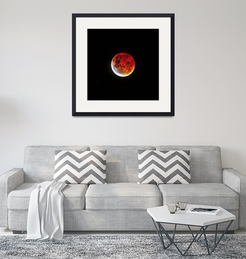 """""""Blood Moon 2019- Wide"""" by cosmic_background"""