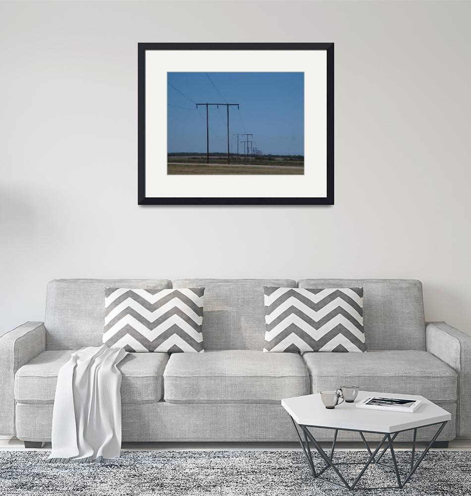 """""""West Texas Utilities 69-kV H-Frames""""  (2003) by TheElectricOrphanage"""