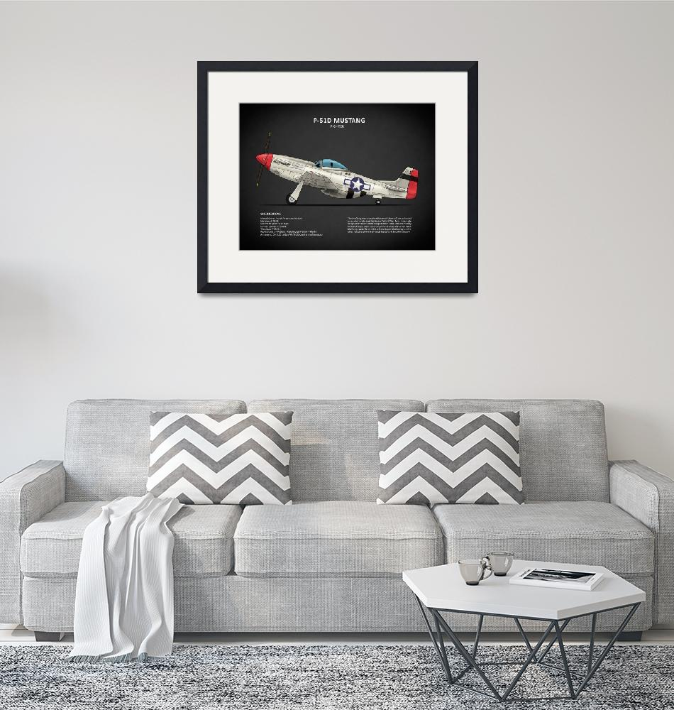 """""""The P-51D Mustang""""  by mark-rogan"""